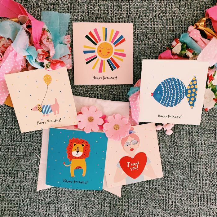 Karten-Set Geburtstagskarten von Velvet Rebel