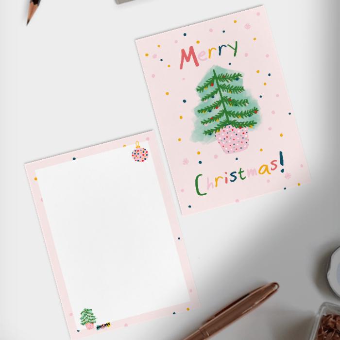 Weihnachtskarte Weihnachtsbaum von Velvet Rebel aus Zürich Postkarte